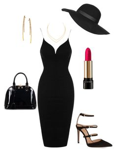 """""""Black dressed up"""" by schneider7999 on Polyvore featuring Topshop, Lancôme, Lana, Gianvito Rossi and Relaxfeel"""