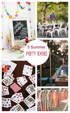 5 Summer Party Ideas | Bright Bold and Beautiful