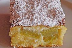 Rhabarberkuchen mit Schmandhaube 1