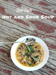 Low carb hot and sour soup has just  5.4 net carbs and 244 calories for a huge FOUR cup serving. From lowcarb-ology.com