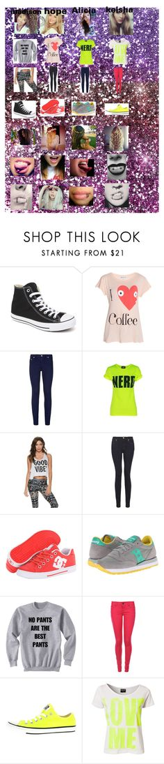 """unknown 10"" by dorochenybrice on Polyvore featuring Converse, Wildfox, True Religion, StyleStalker, 7 For All Mankind, DC Shoes, Saucony Originals, MAK, Tokyo Laundry and Sally&Circle"