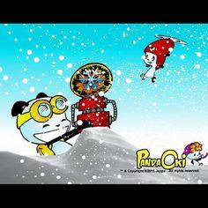 You wanted snow!!!! #adventure #comicgate #kids #family #pandabears #childrensbooks #pandaoki #art #books #snowday #snow