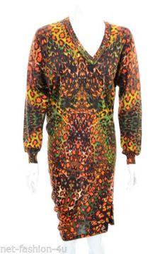 ALEXANDER-McQUEEN-F-W-2010-ASYMMETRIC-SILK-KALEIDOSCOPE-LEOPARD-JUMPER-DRESS-M Alexander Mcqueen Dresses, Jumper Dress, Online Price, Dresses With Sleeves, Gowns, Silk, Long Sleeve, Ebay, Fashion