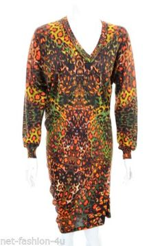ALEXANDER-McQUEEN-F-W-2010-ASYMMETRIC-SILK-KALEIDOSCOPE-LEOPARD-JUMPER-DRESS-M