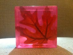 Maple Leaf Embedded Glycerin Soap by Soapy Scent-Sations.