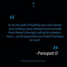 Thanks Panupati! We love the feedback that we get from our fellow coders.  - Click the link in our bio to create a free account and see what all the hype is about. . . . . . . . #coding #code #learncode #python #django #javascript #jquery #swift #angularjs #software #programming #programmer #opensource #engineer #html #css #webapps #developer