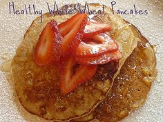 *WHOLE WHEAT PANCAKES: 2 c. whole wheat flour; 1 - 2 c. Mix dry ingredients together. Add milk, oil and eggs to dry ingredients. Breakfast Time, Breakfast Recipes, Whole Wheat Pancakes, Coffee Cake, Family Meals, Healthy Eating, Healthy Food, A Food, Healthy Lifestyle
