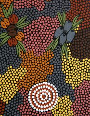 "AUSTRALIAN ABORIGINAL INDIGENOUS ART |"" BUSH FRUIT DREAMING"". Captivating!!"