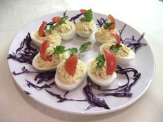 Töltött tojás hidegen Eggs, Breakfast, Food, Morning Coffee, Egg, Essen, Yemek, Morning Breakfast, Eten
