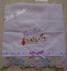 Enxoval de bebê fralda bordada. Produto Lille Bebê. www.lillebebe.com.br