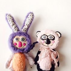 A personal favorite from my Etsy shop https://www.etsy.com/listing/223348721/two-artist-teddy-animals-two-artist-toys