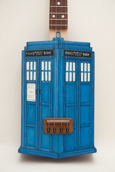 Tardis ukulele Doctor Who inspired by celentanowoodworks on Etsy, $700.00