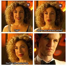 He knows. And she knows that he knows. And she knows about him. And he knows she knows. Only in Doctor Who could that not only make perfect sense but also break our Whovian hearts.