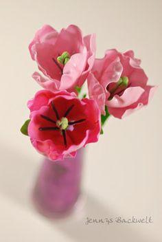 Tulpen aus Zucker/Blütenpaste