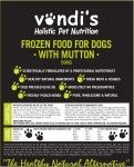 Vondis holistic pet nutrition which is natural, wholesome, preservative free