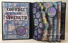 Lisa Horton Craft: Making Books! Journal Covers, Journal Pages, Journals, Word Stencils, Gilding Wax, Gelli Plate Printing, Making Books, Craft Making, Right Brain