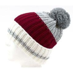 Adult Knit Winter Ski Hat Toque Red White Worker Gray Pom Pom NWT  #Simi #Scarf #Everyday Ski Hats, Knits, Skiing, Red And White, Winter Hats, Gray, Knitting, Women, Ski