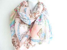 Bohemian Pink Boho Paisley Scarf by myfashioncreations, $15.99 @myfashioncreations