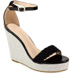 Γυναικείες πλατφόρμες με πλεκτή φάσα και μπαρέτα - Εντυπωσιακές διαχρονικές πλατφόρμες Inshoes από εξαιρετικής ποιότητας δερματίνη... Wedges, Shoes, Fashion, Moda, Shoe, Shoes Outlet, Wedge, Fasion, Footwear