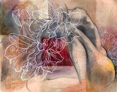 Figurative mixed media painting III - contemporary - artwork - by Zatista Mixed Media Painting, Mixed Media Art, Mix Media, Artists And Models, Sketchbook Inspiration, Contemporary Artwork, Art Portfolio, Figure Drawing, Life Drawing