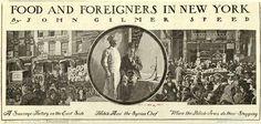 """""""الغذاء والأجانب من نيويورك""""، ج.  عام 1900، أسبوعي هاربر.  مجاملة من مكتبة نيويورك العامة"""