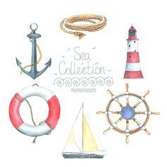 Картинки на морскую тему, высечки