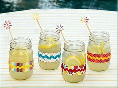 Fun drinks in a mason jar