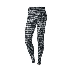 Women's Nike Epic Run Printed Running Tights ($90) ❤ liked on Polyvore featuring activewear, activewear pants, nike sportswear, nike, nike activewear and nike activewear pants