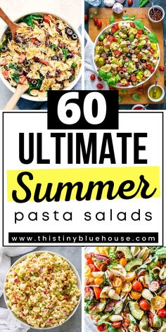 cheap, easy and delicious best summer pasta salad recipes. Perfect as a quick lunch or easy weeknight side dish. Easy Pasta Salad Recipe, Easy Pasta Recipes, Meal Recipes, Family Recipes, Cooking Recipes, Best Party Appetizers, Dinner Party Recipes, Dinner Ideas, Summer Pasta Salad
