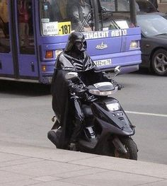 In Russia, scooter rides Vader.
