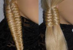 Einfache Frisuren.Zopffrisur.Flechtfrisur.Schulfrisur.SIDE Braid Hairsty...