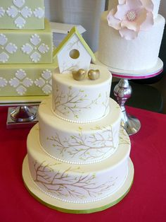 Spring Birdhouse Wedding Cake by Coco Cake Co., via Flickr