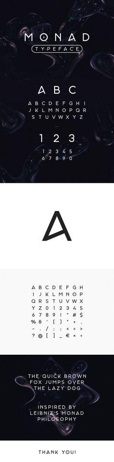 Monad #Typeface - #Sans-Serif #Fonts Download here: https://graphicriver.net/item/monad-typeface/20434239?ref=alena994