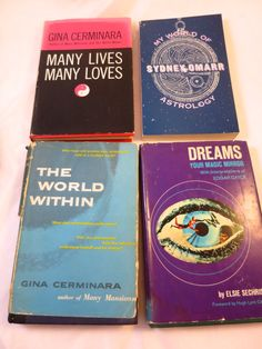 4 Books Astrology Dreams Reincarnation by BonniesVintageAttic