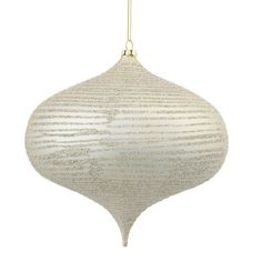 Glitter Onion Christmas Ornament