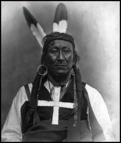 Young Man Afraid of His Horses (1836 - 1900) Oglala Sioux - his name means the bearer of the name was so feared in battle that even the sight of his horse would inspire fear. He was a lieutenant under Red Cloud and resisted the building of the Montana trail through the Sioux hunting grounds of Powder River. (photo c.1870-80) Handwritten on the photo is: Chief Pine Ridge Sioux
