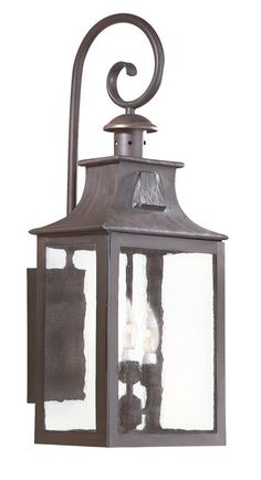 Troy Lighting BCD9005OBZ Old Bronze Newton 3 Light 27 Outdoor Wall Sconce with Seedy Glass