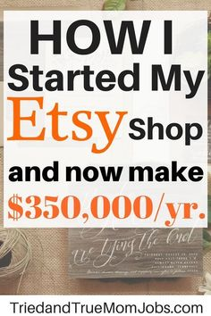 Want to start a shop on Etsy? Find out how this stay-at-home mom Nicci Wiedman turned her hobby into Earn Money From Home, Earn Money Online, Way To Make Money, How To Make, Money Fast, Online Earning, Online Jobs, Best Money Saving Tips, Money Saving Mom