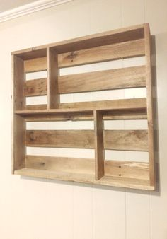 A wonderful, 26x24x4 wall-hung knick knack shelf to display your more quirky home decor. We use a combination of glue and screws for maximum