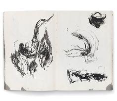 Ilda David, caderno de artista em «Do Negro a Luz - Desenho», edição Documenta.