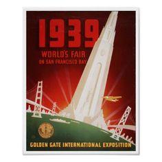 Vintage San Francisco World's Fair 1939 Print