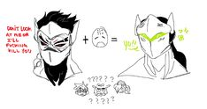 "peachdeluxe: ""genji's old teammates were probably super weirded out meeting him as he is now since he used to be , uh , "" - Overwatch Overwatch Video Game, Overwatch Genji, Overwatch Comic, Overwatch Memes, Overwatch Fan Art, Fight Me Meme, Shimada Brothers, Genji Shimada, Soldier 76"