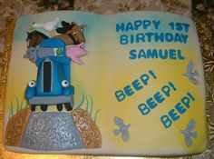 Little Blue Truck — Childrens Birthday Cakes