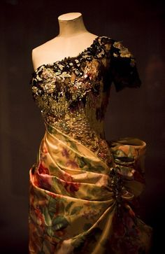 Evening gown by Christian Lacroix, 1996.