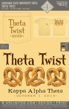 "LSU Kappa Alpha Theta ""Theta Twist"" Pretzels Event Shirt | Sorority Event | Greek Event #kappaalphatheta #theta #kao #kat #lsu #gotigers"