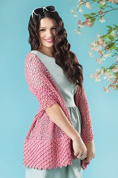 That beautiful crocodile stitch again!  Pattern - March/April Crochet Today magazine.
