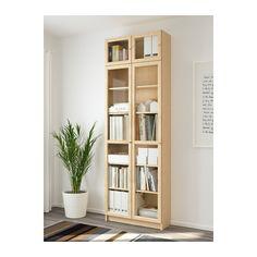 BILLY / OXBERG Bookcase - birch veneer, 80x237x30 cm - IKEA