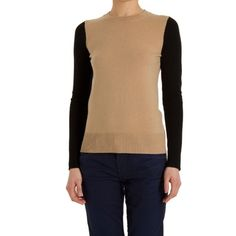 Barney's New York Color Block Sweater Sz M Barney's New York Color Block Sweater. Camel Body w Black Sleeves. Size Medium. True to Size. Very Good Condition w. Natural Piling. Wool / Cashmere Blend w. Some Stretch. Barneys New York CO-OP Sweaters Crew & Scoop Necks