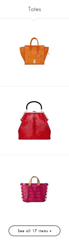 """Totes"" by vilen ❤ liked on Polyvore featuring totes, handbags, bags, celine, borse, сумки, bolsas, celine handbags, celine bag and orange handbags"