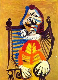 Pablo Picasso - Man in Wheelchair, 1969
